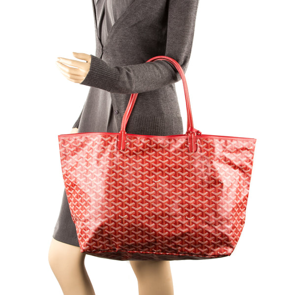Goyard St. Louis Red Canvas GM Bag (Authentic Pre Owned)