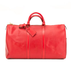 Louis Vuitton Red Epi Keepall 50 Bag (Authentic Pre Owned)