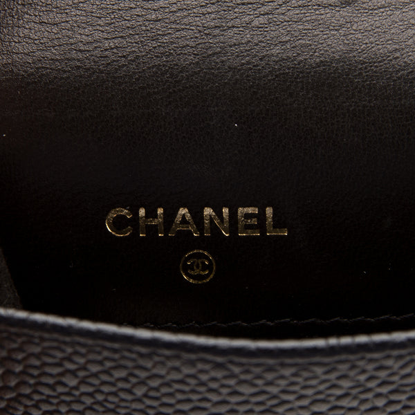 Chanel Black caviar Phone Case (Ahuthentic Pre Owened)