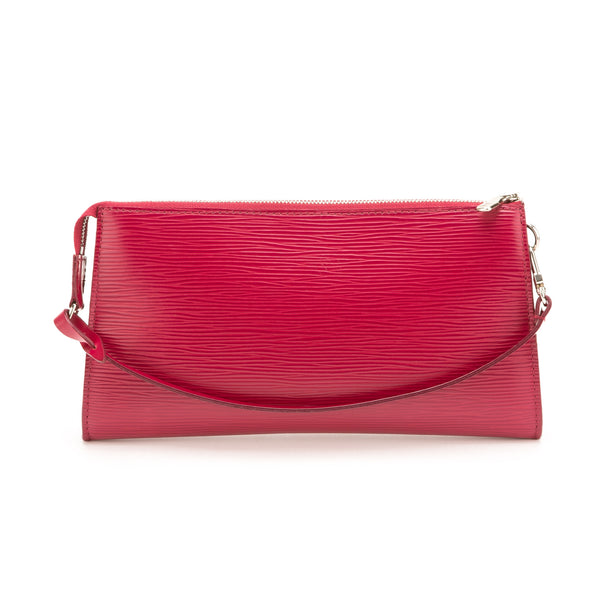 Louis Vuitton Red Epi Pochette Bag (Authentic Pre Owned)