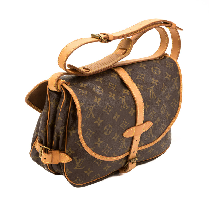 Louis Vuitton Monogran Saumur 30 Bag  (Authentic Pre Owned)