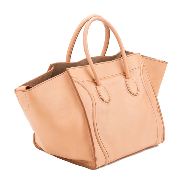 Celine Pink Leather Luggage Phantom Tote  (Authentic Pre Owned)