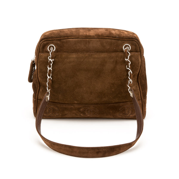 4d030a655bc8 Chanel Brown Suede shoulder Bag (Authentic Pre Owned) - 2174006 | LuxeDH