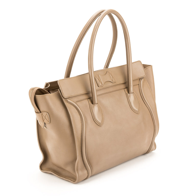 Celine Beige Leather Luggage  Large Tote  (Pre Owned)