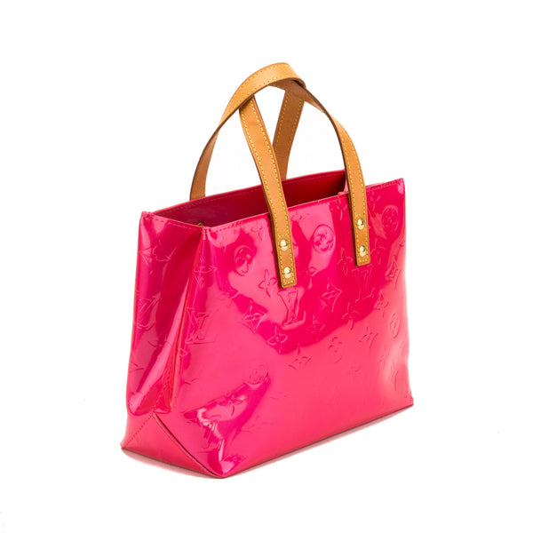Louis Vuitton Fuchsia Vernis Reade PM Bag (Authentic Pre Owned)