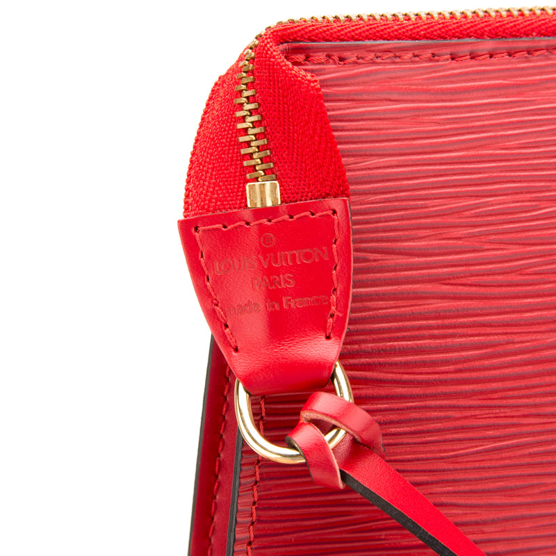 Louis Vuitton Red Epi Pochette Bag (Pre Owned)