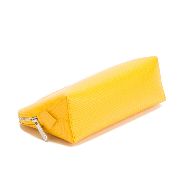 Louis Vuitton Yellow Epi Leather Cosmetic Pouch (Authentic Pre Owned)