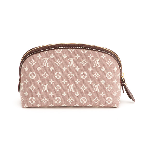 Louis Vuitton Mini Lin Sepia Cosmetic Pouch (Authentic Pre Owned)