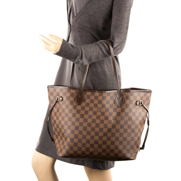 Louis Vuitton Damier Ebene Neverfull MM Bag (Pre Owned)