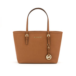 Michael Kors Brown Jet Set Saffiano Small Tote (New with Tags)