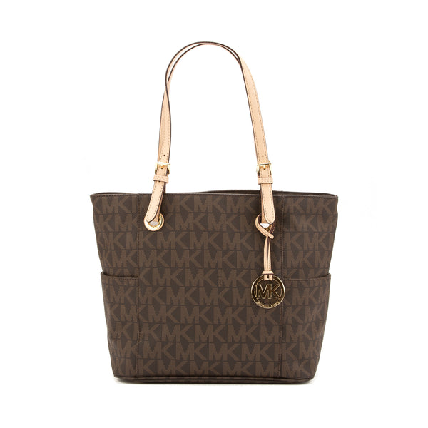 Michael Kors Brown MK Logo Jet Set Tote (New with Tags)