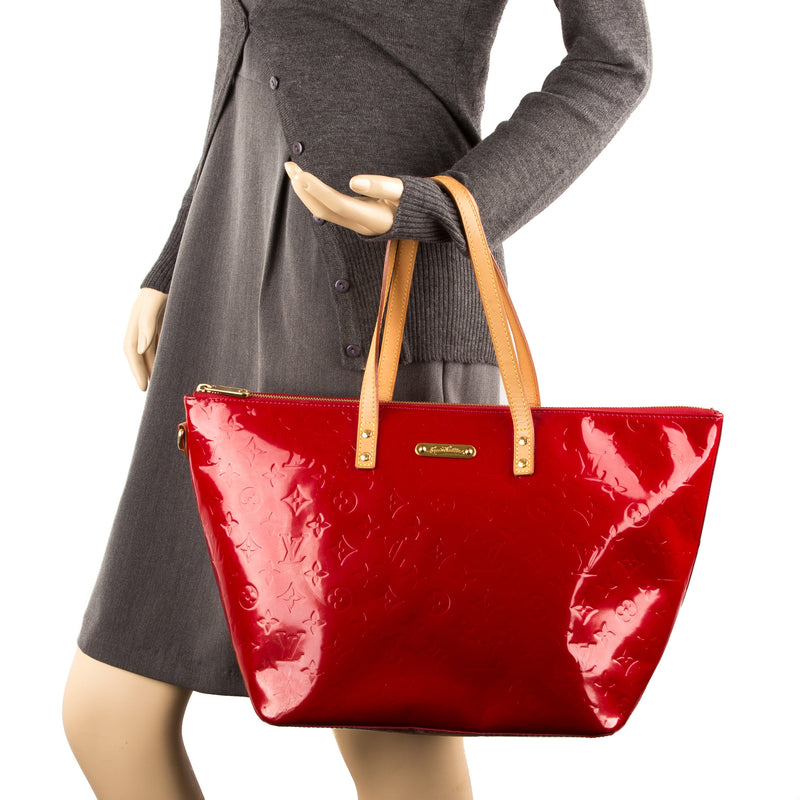 Louis Vuitton Red Vernis Leather Bellevue GM Bag (Pre Owned)