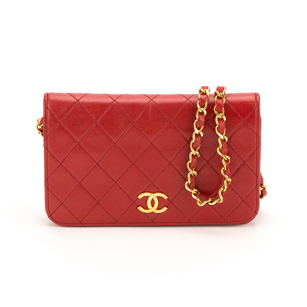 7dc4aead5226 Chanel Red Lambskin Mini Single Flap Bag (Authentic Pre Owned ...