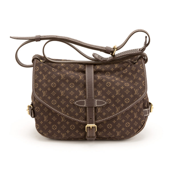 Louis Vuitton  Brown Mini Lin Saumur 30 Bag  (Pre Owned)