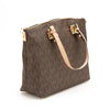 Michael Kors Brown Leather Jet Set Logo Multifunction Satchel (New with Tags)