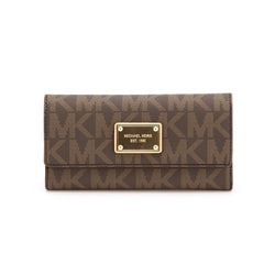 Michael Kors Brown Leather Jet Set Checkbook Wallet (New with Tags)