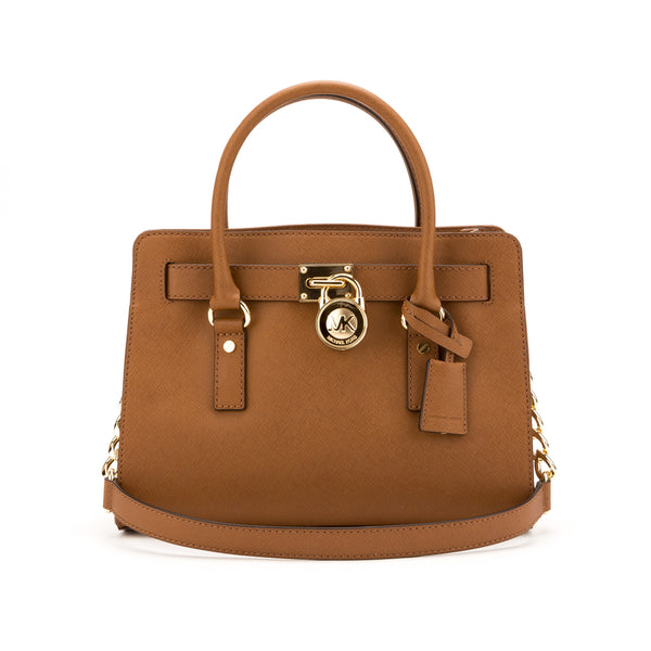 Michael Kors Brown Hamilton Saffiano E/W Satchel  (New with Tags)