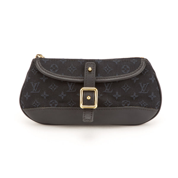 Louis Vuitton Blue Mini lin Marjorie Bag (Authentic Pre Owned)