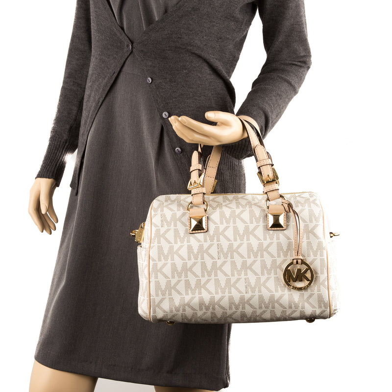 Michael Kors Beige Leather Grayson Medium (New with Tags)
