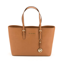 Michael Kors Brown Leather Jet Set Multifunction Medium (New with Tags)