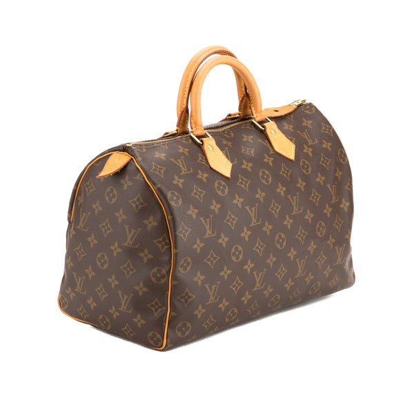 Louis Vuitton Monogram Speedy 35 Bag (Authentic Pre Owned)