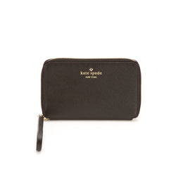 Kate Spade Black Leather Cherry Lane Laurie ZA Wristlet Wallet (New with Tags)