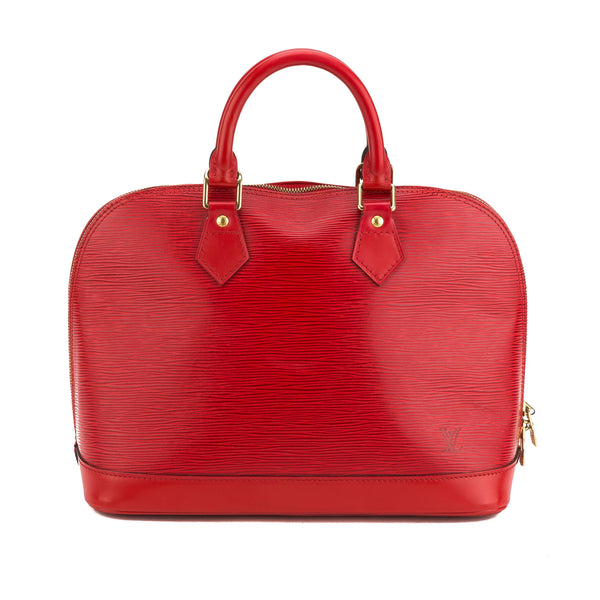 Louis Vuitton Red Epi Alma Bag (Authentic Pre owned)