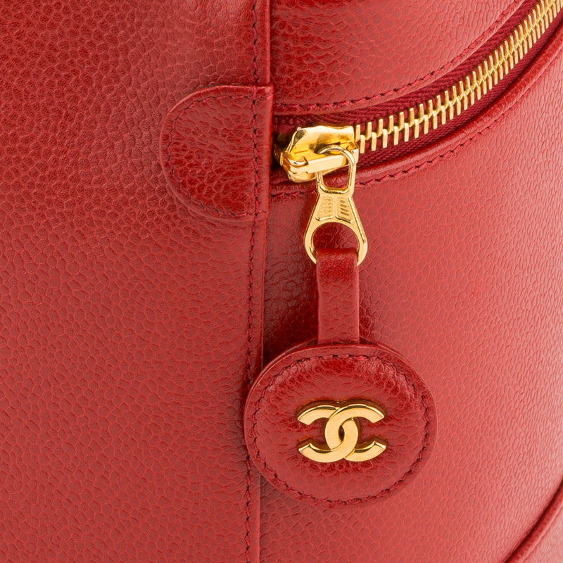 Chanel Red Caviar Cosmetic Case (Authentic Pre Owned)