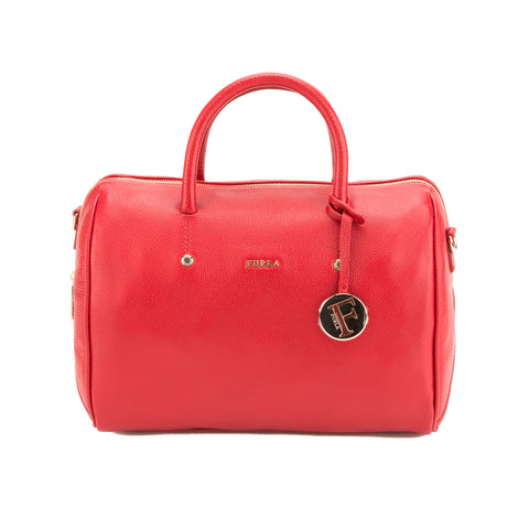 FURLA Red Alissa Large Satchel  (New with Tags)