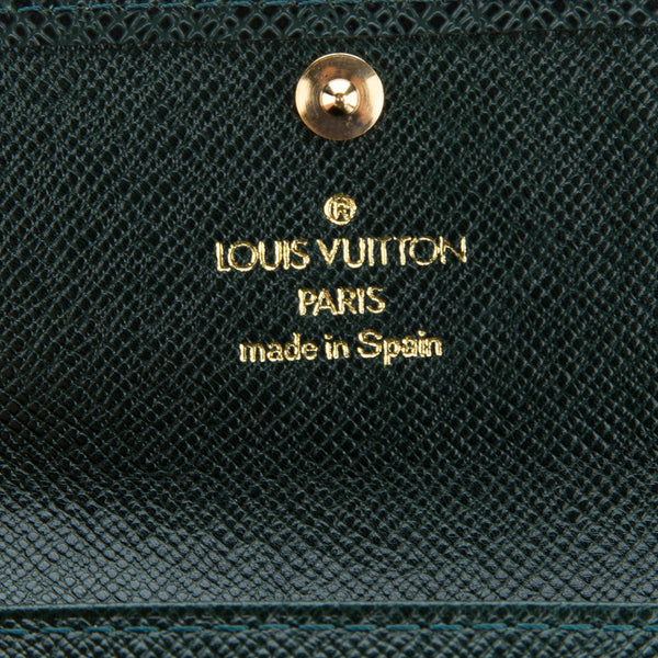 Louis Vuitton Green Taiga Multicles 4-key Case (Authentic Pre Owned)