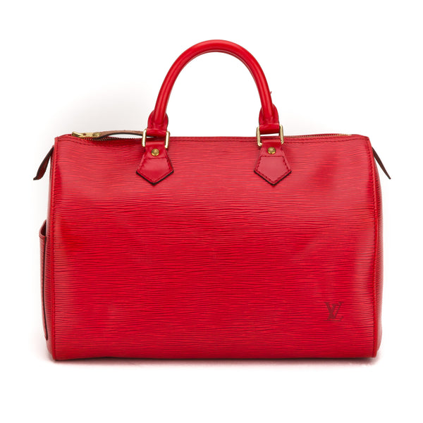 Louis Vuitton Red Epi Speedy 30 Bag (Pre Owned)