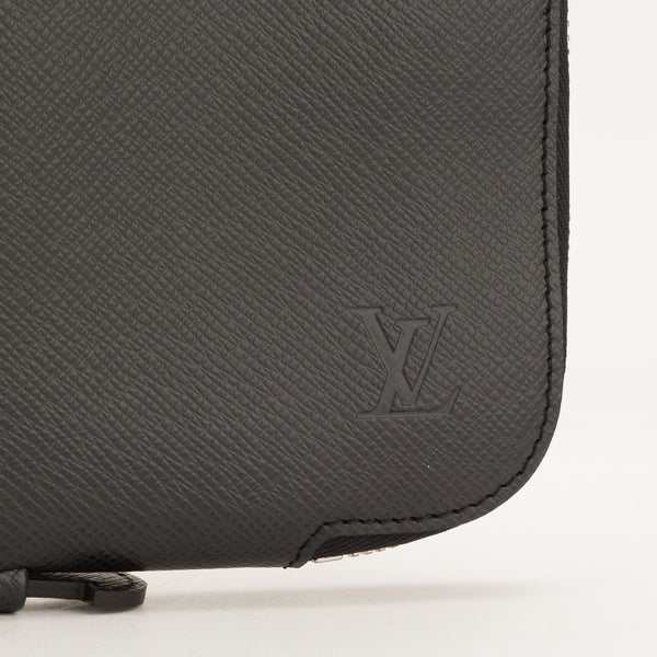 Louis Vuitton Black Taiga Vladimir Business Portfolio Briefcase (Authentic Pre Owned)