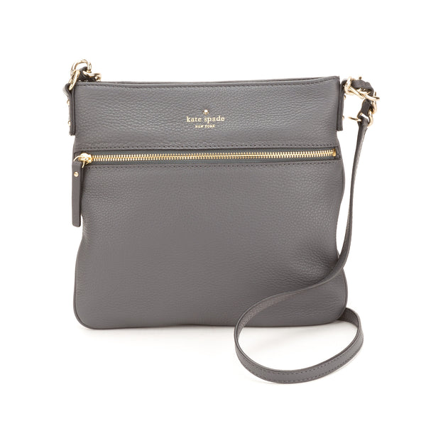 Kate Spade Gray Leather Cobble Hill Ellen Crossbody (New with Tags)