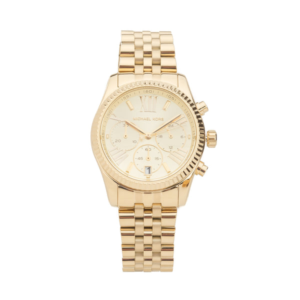 Michael Kors Gold Chronograph Lexington Watch (New with Tags)