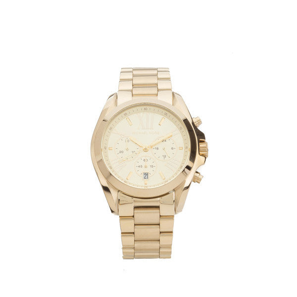 Michael Kors Gold Chronograph Bradshaw Watch (New with Tags)