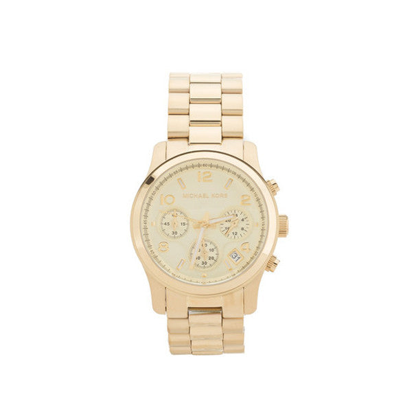 Michael Kors Gold-Tone Chrono Stainless Steel Watch (New with Tags)