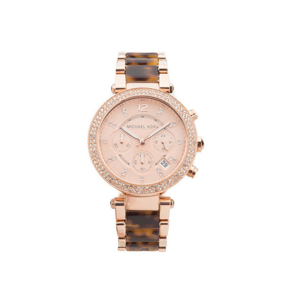 Michael Kors Tortoise Acetate Parker Watch (New with Tags)