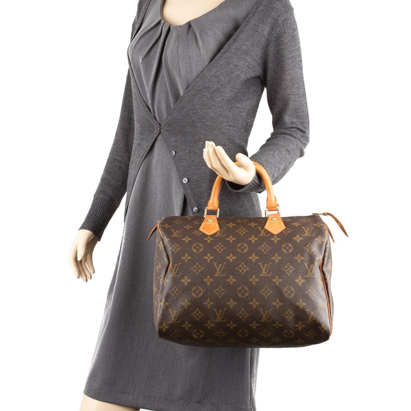 Louis Vuitton Monogram Speedy 30 Bag (Authentic Pre Owned)