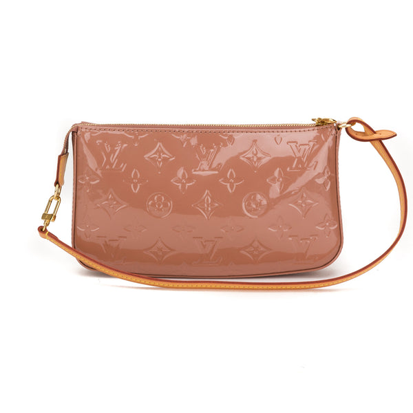 Louis Vuitton Rose Vernis Pochette Bag (Authentic Pre Owned)