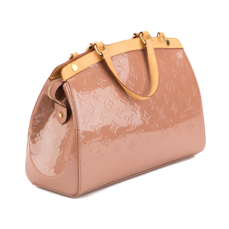 Louis Vuitton Rose Vernis Brea MM Bag (Authentic Pre Owned)
