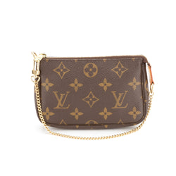 Louis Vuitton Monogram Mini Pochette (Authentic Pre Owned)