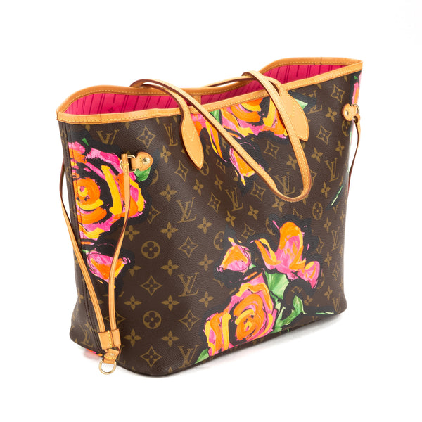 Louis Vuitton Stephen Sprouse Roses Neverfull MM Bag (Pre Owned)