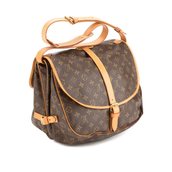 Louis Vuitton Monogram Saumur 35 Bag (Authentic Pre Owned)