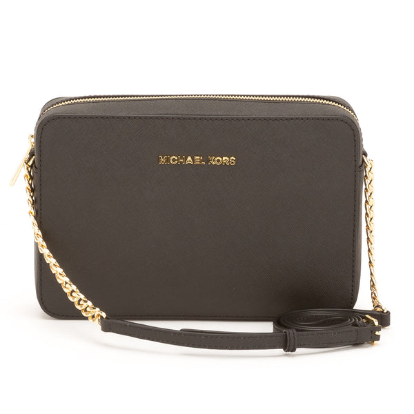3f2954805dd5 Michael Kors Black Jet Set Travel Large E W Crossbody (New with Tags ...