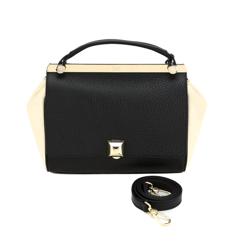 FURLA Black-Beige Cortina Small Bag (New with Tags)