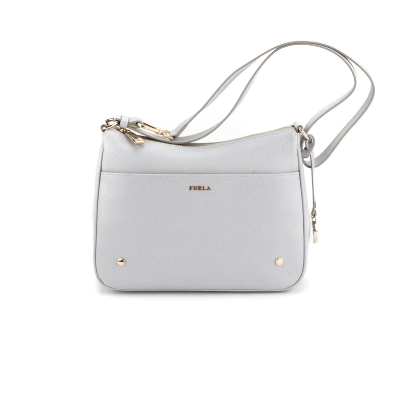 FURLA Gray Allissa Small Crossbody (New with Tags)