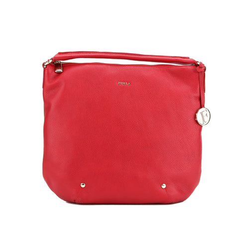 FURLA Red Cabernet Alissa Hobo Medium (New with Tags)