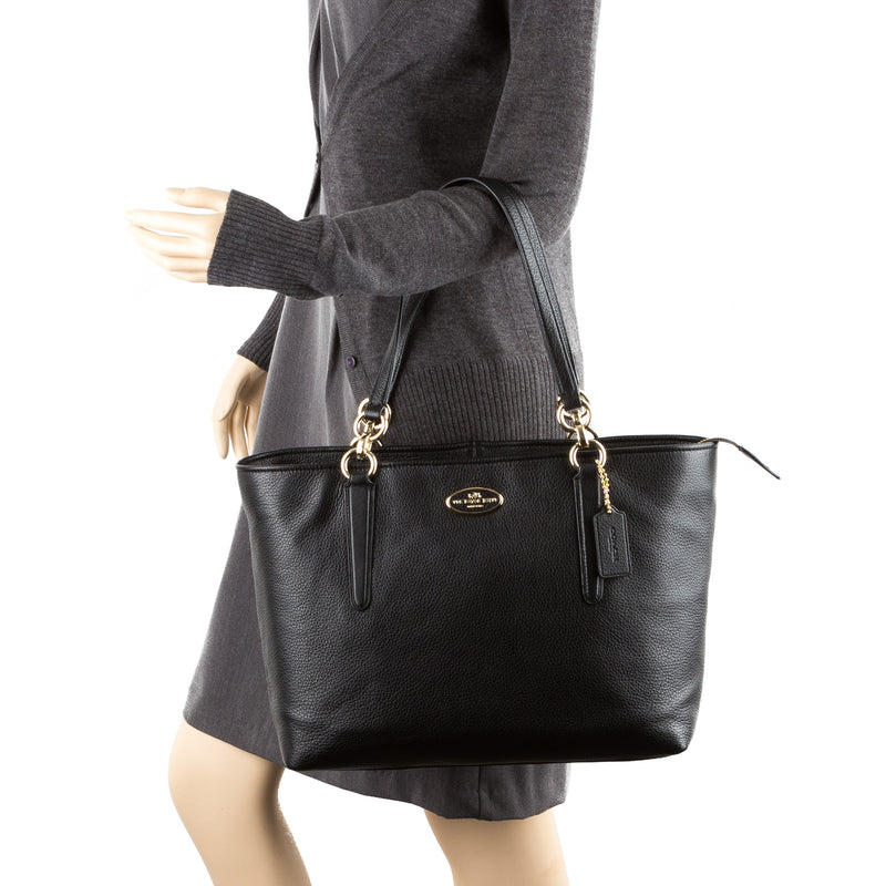 Coach Black Chicago Ellis Tote (New with Tags)