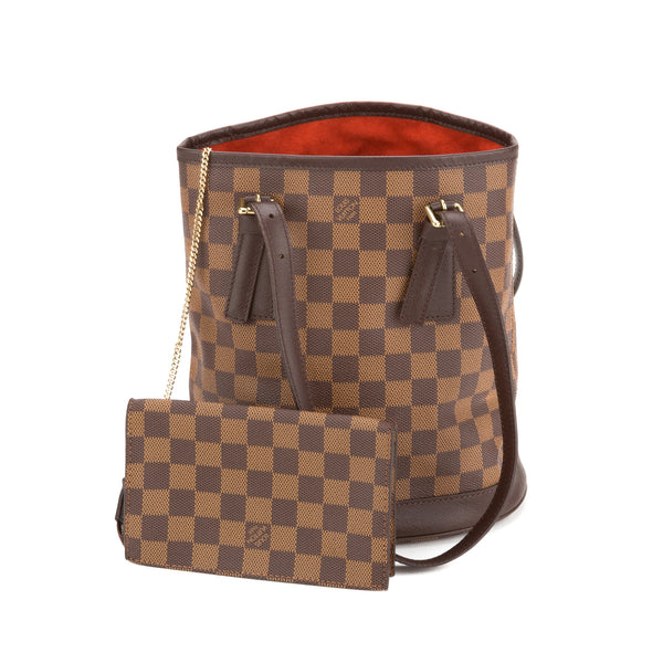 a8dc827d9404 Louis Vuitton Damier Ebene Marais Bucket Bag (Pre Owned) - 2294040 ...