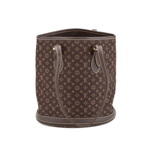 Louis Vuitton  Brown Mini Lin Bucket PM Bag (Authentic Pre Owned)